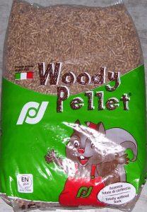 Woody pellets